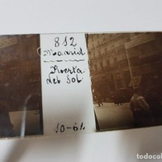 Fotografía antigua: ANTIGUA FOTOGRAFIA ESTEREOSCOPICA CRISTAL PUERTA DEL SOL MADRID. Lote 120438151