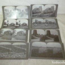 Fotografía antigua: LOTE 8 ANTIGUA FOTOGRAFIA ESTEREOSCOPICA DE MILITAR I GUERRA MUNDIAL, ROYAL COMMAND INGLES.. Lote 121246671