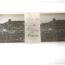Fotografía antigua: CIMA DE PUY DE DOME, FRANCIA. CRISTAL ESTEREOSCÓPICO. Lote 123227999