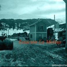 Fotografía antigua: FERROCARRIL - ESTACIÓN LA MOLINA - 1930'S - NEGATIVO DE ACETATO . Lote 123438383