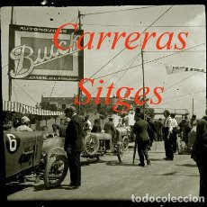 Fotografía antigua: CARRERAS - PENYA RHIN - SITGES - 1920'S - NEGATIVO DE ACETATO - 6 X 6 CM. . Lote 123488611