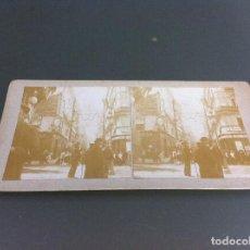 Fotografía antigua: FOTOGRAFÍA ESTEREOSCÓPICA. PUERTA DEL SOL, MADRID. MEDIDAS: 18 X 9CM. Lote 124273207