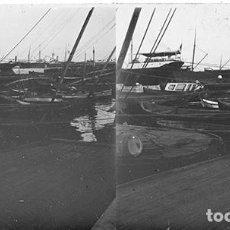 Old photograph - VALENCIA. EL PUERTO. AÑO 1909 - CRISTAL POSITIVO ESTEREOSCOPICO - 124277455