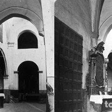 Fotografía antigua: CALATAYUD. IGLESIA DE SAN PEDRO. PRINCIPIO 1900 - CRISTAL POSITIVO ESTEREOSCOPICO. Lote 124409719