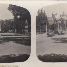 Fotografía antigua: LOGROÑO . PABELLÓN DE CONCIERTOS ESTEREOSCOPIA. Lote 125905275