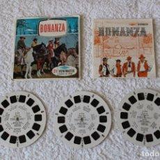 Fotografía antigua: VIEW MASTER: BONANZA (3 DISCOS + LIBRO) - SAWYER´S. Lote 127239699