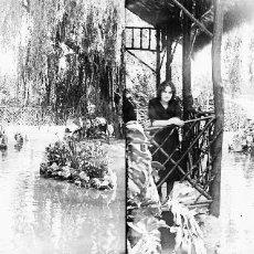 Fotografía antigua: VALENCIA - VIVEROS - NEGATIVO EN CRISTAL ESTEREOSCOPICO - AÑOS 1920-1930. Lote 127626791