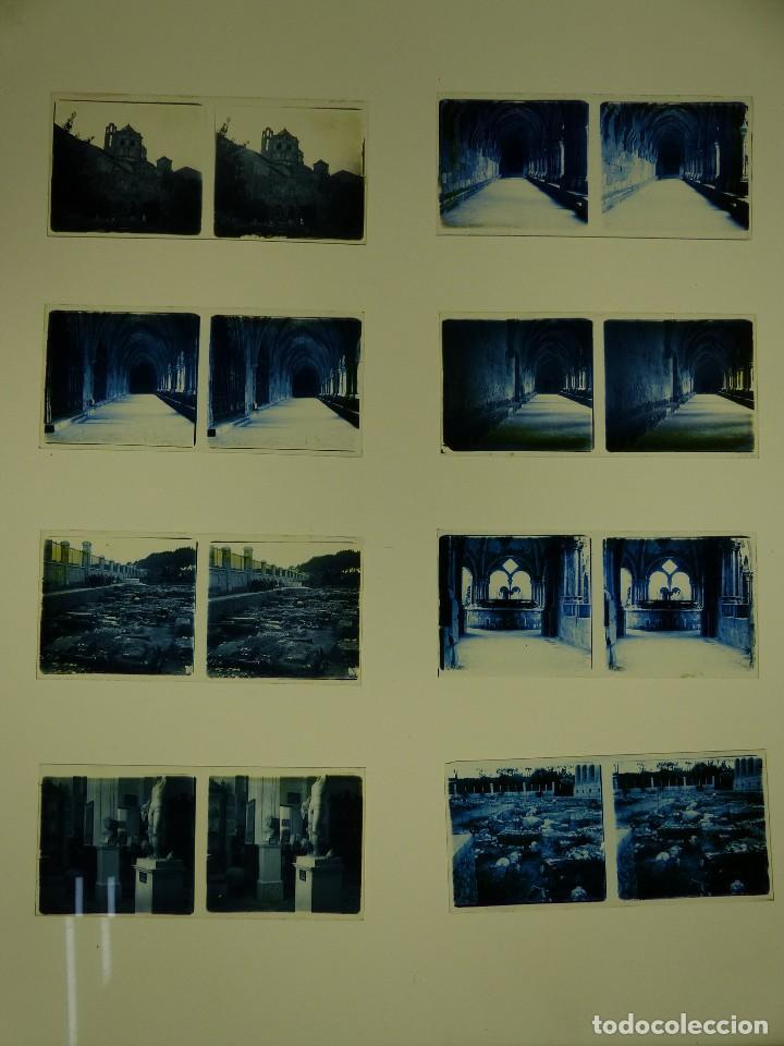 TARRAGONA, POBLET, SANTES CREUS - 17 CRISTALES ESTEREOSCOPICOS - AÑOS 1930-40 (Fotografía Antigua - Estereoscópicas)