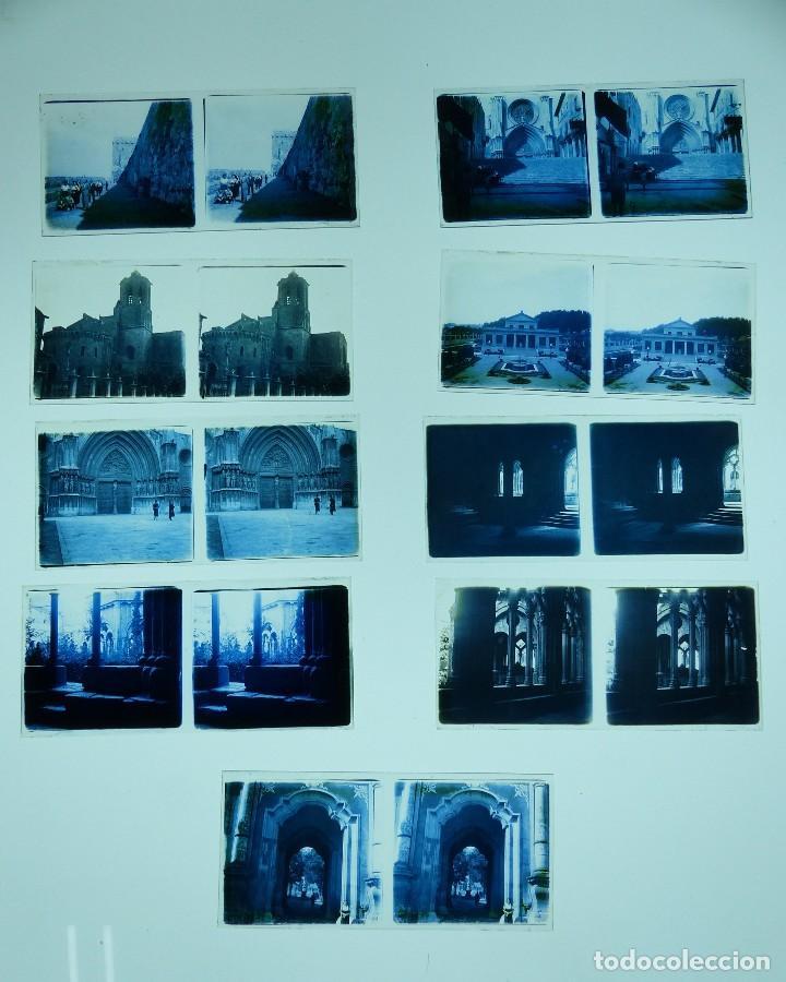 Fotografía antigua: TARRAGONA, POBLET, SANTES CREUS - 17 CRISTALES ESTEREOSCOPICOS - AÑOS 1930-40 - Foto 10 - 127770267