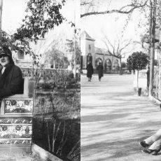 Fotografía antigua: VALENCIA - VIVEROS - POSITIVO EN CRISTAL ESTEREOSCOPICO - AÑOS 1920-30. Lote 128077987