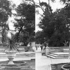 Fotografía antigua: VALENCIA - GLORIETA - POSITIVO EN CRISTAL ESTEREOSCOPICO - AÑOS 1920-30. Lote 128078347