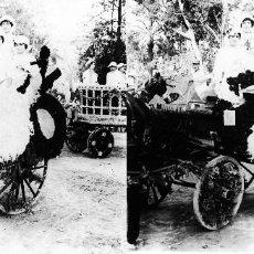 Fotografía antigua: VALENCIA - BATALLA DE FLORES - POSITIVO EN CRISTAL ESTEREOSCOPICO - AÑOS 1920-30. Lote 128079207