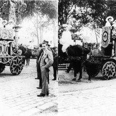 Fotografía antigua: VALENCIA - BATALLA DE FLORES - POSITIVO EN CRISTAL ESTEREOSCOPICO - AÑOS 1920-30. Lote 128079291