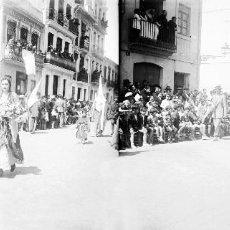 Fotografía antigua: VALENCIA. SEMANA SANTA EN EL CABAÑAL - ANTIGUO CRISTAL NEGATIVO ESTEREOSCOPICO. Lote 128242111
