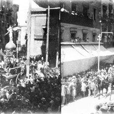Fotografía antigua: VALENCIA - PROCESION CORPUS LAS ROCAS - NEGATIVO EN CRISTAL ESTEREOSCOPICO - AÑOS 1920-30. Lote 128363175