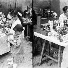 Fotografía antigua: VALENCIA - MERCADO, ESCURAETA - NEGATIVO EN CRISTAL ESTEREOSCOPICO - AÑOS 1920-30. Lote 128363439