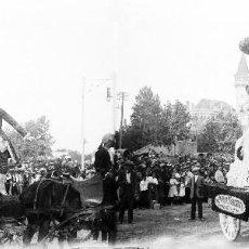 Fotografía antigua: VALENCIA - BATALLA DE FLORES PALACIO RIPALDA - NEGATIVO EN CRISTAL ESTEREOSCOPICO - AÑOS 1920-30. Lote 128363779