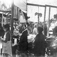 Fotografía antigua: VALENCIA - MERCADO - NEGATIVO EN CRISTAL ESTEREOSCOPICO - AÑOS 1920-30. Lote 128363967