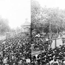 Fotografía antigua: VALENCIA - BATALLA DE FLORES PASEO ALAMEDA - NEGATIVO EN CRISTAL ESTEREOSCOPICO - AÑOS 1920-30. Lote 128364203