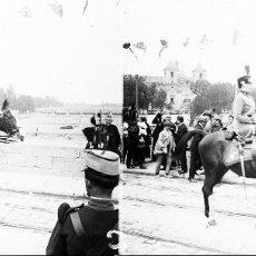 Fotografía antigua: VALENCIA - PLAZA TETUAN, REINA VICTORIA EUGENIA - NEGATIVO EN CRISTAL ESTEREOSCOPICO - AÑOS 1920-30. Lote 128364971