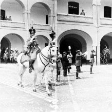 Fotografía antigua: VALENCIA - PLAZA TETUAN, REINA VICTORIA EUGENIA - NEGATIVO EN CRISTAL ESTEREOSCOPICO - AÑOS 1920-30. Lote 128365107
