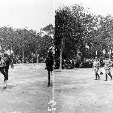 Fotografía antigua: VALENCIA - REINA VICTORIA EUGENIA - NEGATIVO EN CRISTAL ESTEREOSCOPICO - AÑOS 1920-30. Lote 128366055