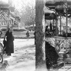 Fotografía antigua: VALENCIA - PLAZA EMILIO CASTELAR - NEGATIVO EN CRISTAL ESTEREOSCOPICO - AÑOS 1920-30. Lote 128366419