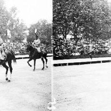 Fotografía antigua: VALENCIA - REINA VICTORIA EUGENIA - NEGATIVO EN CRISTAL ESTEREOSCOPICO - AÑOS 1920-30. Lote 128366635