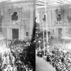 Fotografía antigua: VALENCIA - CORPUS PLAZA MARE DE DEU - NEGATIVO EN CRISTAL ESTEREOSCOPICO - AÑOS 1920-30. Lote 128367183