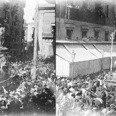Fotografía antigua: VALENCIA - PROCESION CORPUS LAS ROCAS - NEGATIVO EN CRISTAL ESTEREOSCOPICO - AÑOS 1920-30. Lote 128367651