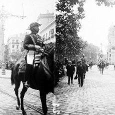 Fotografía antigua: VALENCIA - PLAZA TETUAN, REINA VICTORIA EUGENIA - NEGATIVO EN CRISTAL ESTEREOSCOPICO - AÑOS 1920-30. Lote 128368867