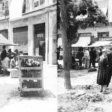 Fotografía antigua: VALENCIA - MERCAT PLAZA REDONDA - NEGATIVO EN CRISTAL ESTEREOSCOPICO - AÑOS 1920-30. Lote 128369635