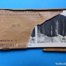 Fotografía antigua: MONTSERRAT - 14 VISTAS ESTEREOSCIPICAS EL TURISMO PRACTICO - AÑOS 1920-30 - VER FOTOS ADICIONALES. Lote 129093103