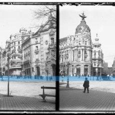Fotografía antigua: MADRID-NEGATIVO EN CRISTAL ESTEREOSCOPICO AÑOS 1920 -PASEO CASTELLANA-PRECIOSA. Lote 130132959