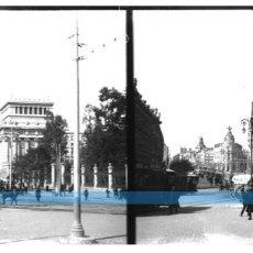 Fotografía antigua: MADRID-NEGATIVO EN CRISTAL ESTEREOSCOPICO AÑOS 1920 -PASEO CASTELLANA-PRECIOSA. Lote 130133699