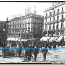 Fotografía antigua: MADRID -POSITIVO EN CRISTAL ESTEREOSCOPICO - PUERTA DEL SOL - PRECIOSA-. Lote 130283778