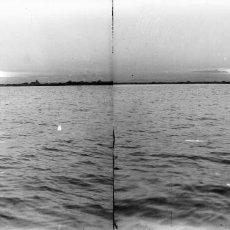 Fotografía antigua: VALENCIA - VISTA MAR - NEGATIVO EN CRISTAL ESTEREOSCOPICO - AÑOS 1910-20. Lote 130315462