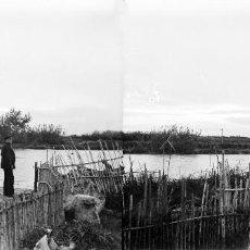 Fotografía antigua: VALENCIA - EL PALMAR - NEGATIVO EN CRISTAL ESTEREOSCOPICO - AÑOS 1910-20. Lote 130315558