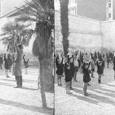 Fotografía antigua: VALENCIA - COLEGIO FRANCES - NEGATIVO EN CRISTAL ESTEREOSCOPICO - AÑOS 1910-20. Lote 130317402