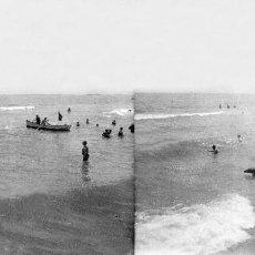 Fotografía antigua: VALENCIA - VISTA PLAYA - NEGATIVO EN CRISTAL ESTEREOSCOPICO - AÑOS 1910-20. Lote 130317638