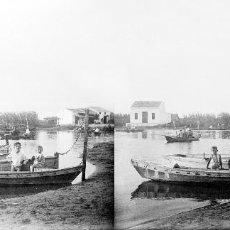 Fotografía antigua: VALENCIA - VISTA ALBUFERA - NEGATIVO EN CRISTAL ESTEREOSCOPICO - AÑOS 1910-20. Lote 130317754