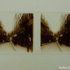Fotografía antigua: BARCELONA, VISTA - CRISTAL POSITIVO ESTEREOSCOPICO - AÑOS 1920. Lote 130388166