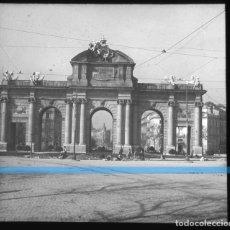 Fotografía antigua: MADRID -POSITIVO EN CRISTAL ESTEREOSCOPICO -192O- OBRAS EN PUERTA DE ALCALA. Lote 130713044