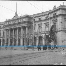 Fotografía antigua: MADRID -POSITIVO EN CRISTAL ESTEREOSCOPICO -192O-BOLSA DE COMERCIO- ADOQUINANDO. Lote 130722004
