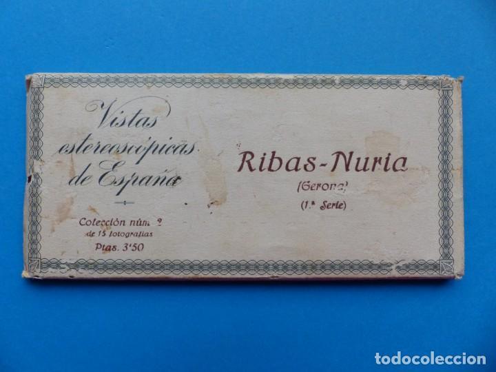 RIBAS-NURIA, GERONA - VISTAS ESTEREOSCOPICAS DE ESPAÑA - 1ª SERIE, COLECCION Nº 2 - 15 VISTAS RELLEV (Fotografía Antigua - Estereoscópicas)