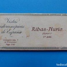 Fotografía antigua: RIBAS-NURIA, GERONA - VISTAS ESTEREOSCOPICAS DE ESPAÑA - 1ª SERIE, COLECCION Nº 2 - 15 VISTAS RELLEV. Lote 130787304