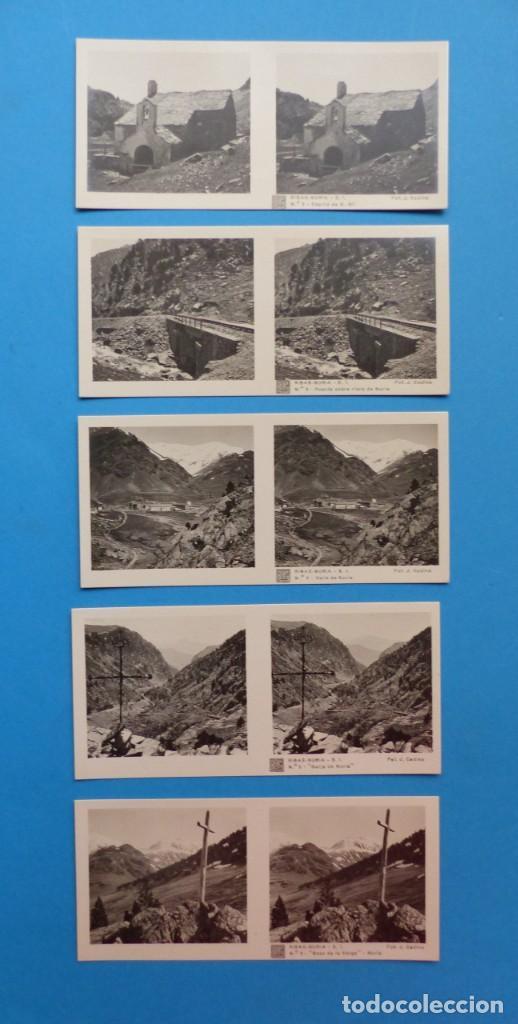 Fotografía antigua: RIBAS-NURIA, GERONA - VISTAS ESTEREOSCOPICAS DE ESPAÑA - 1ª SERIE, COLECCION Nº 2 - 15 VISTAS RELLEV - Foto 3 - 130787304