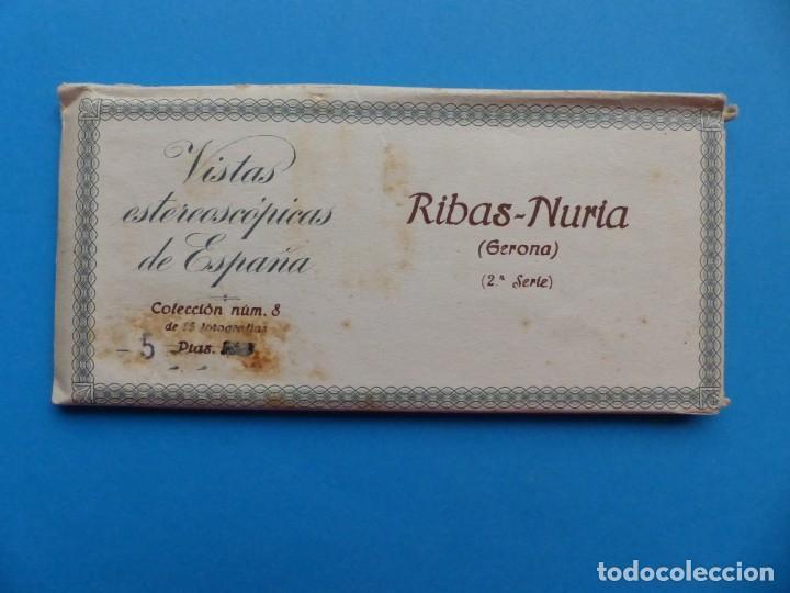 RIBAS-NURIA, GERONA - VISTAS ESTEREOSCOPICAS DE ESPAÑA - 2ª SERIE, COLECCION Nº 8 - 15 VISTAS RELLEV (Fotografía Antigua - Estereoscópicas)