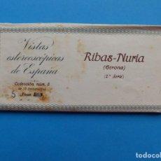 Fotografía antigua: RIBAS-NURIA, GERONA - VISTAS ESTEREOSCOPICAS DE ESPAÑA - 2ª SERIE, COLECCION Nº 8 - 15 VISTAS RELLEV. Lote 130787388