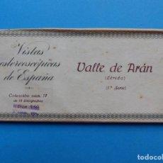 Fotografía antigua: VALLE DE ARAN LERIDA -VISTAS ESTEREOSCOPICAS DE ESPAÑA- 1ª SERIE, COLECCION Nº 17 - 15 VISTAS RELLEV. Lote 130788600